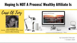 Hoping is not a process banner