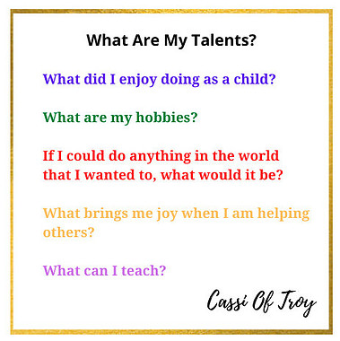 Cassi Of Troy What Are My Talents