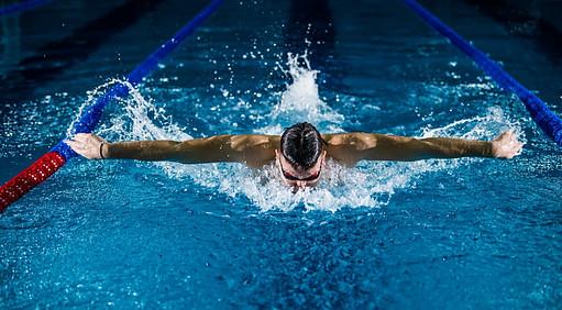 Swimmer Doing the Butterfly Stroke