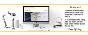 Header Banner showing a computer on a desk and who the post is written for