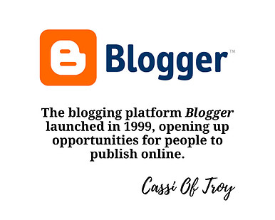 Blogger - Cassi Of Troy
