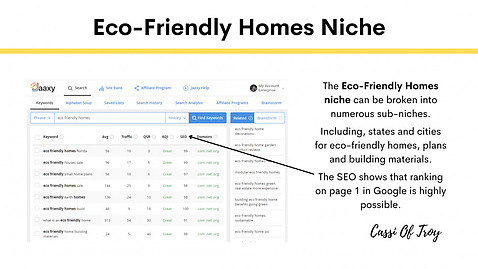 Eco-Friendly Homes Niche - Cassi Of Troy