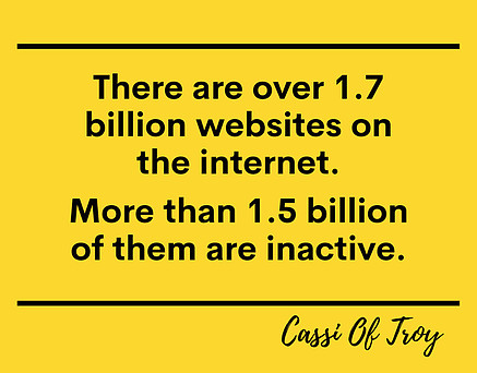 Inactive Websites On The Internet - Cassi Of Troy